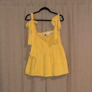 Yellow Bow Tank Top